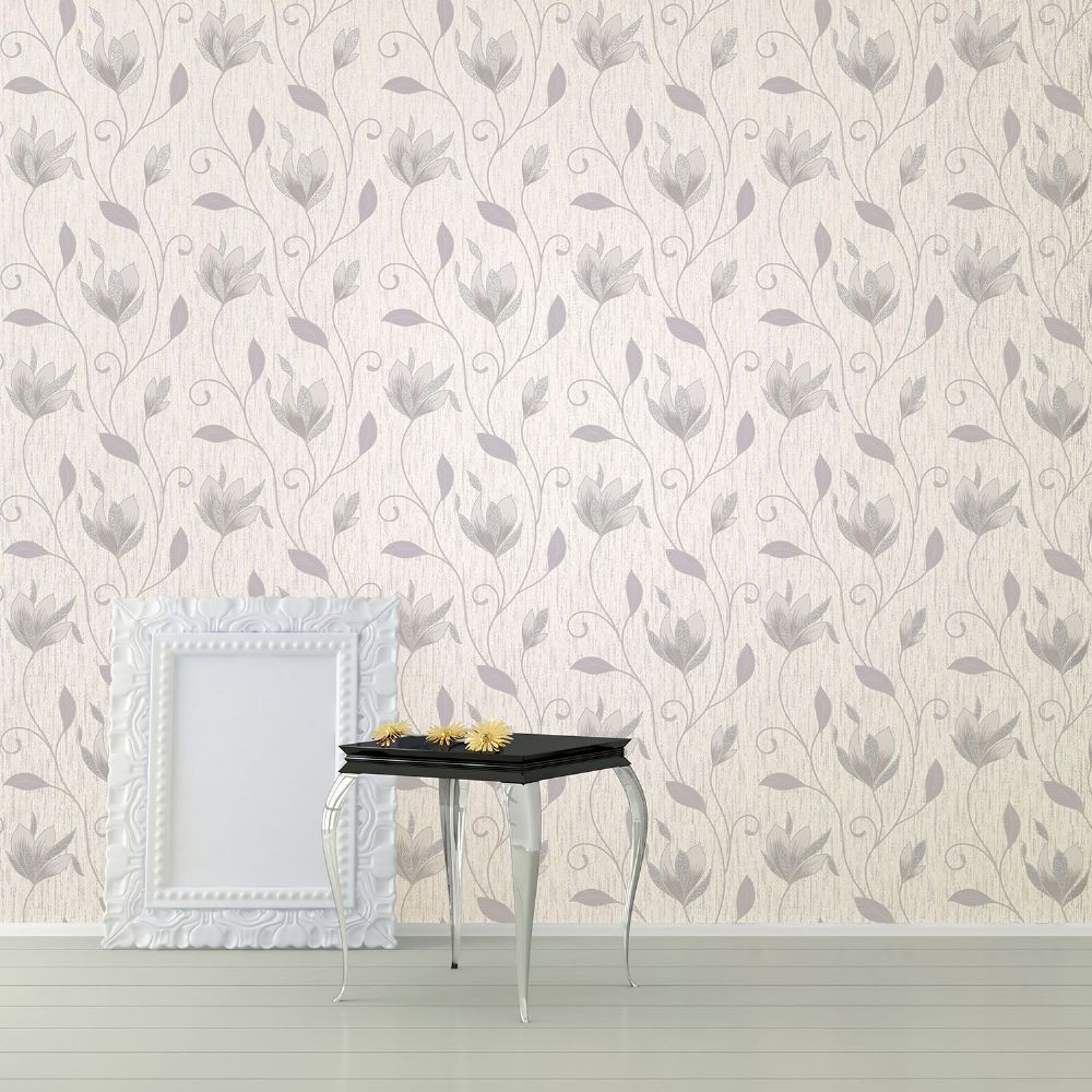 Crown Synergy Dove Grey Trail M0852 Wallpaper
